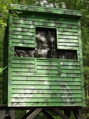 New Deer Blind Finished Lots Of Pics Michigan